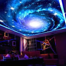 Galaxy Nebula Photo Ceiling Wall Mural For Living Room Kids Room Wall Decor Non Woven Custom Size Shining Stars 3d Wallpaper 3d Wallpaper Wall Muralceiling Wall Aliexpress