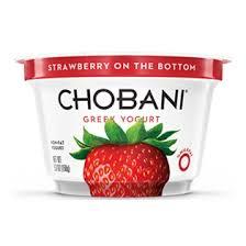 chobani 0 strawberry greek yogurt 5oz