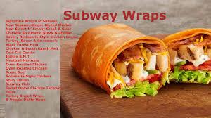 subway wrap calories information types