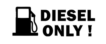 Diesel Only Skull Fuel Door Cover Cap Gas Tank Decal Sticker Black Ushirika Coop