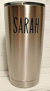 Tall Font Custom Name For Tervis Yeti Decal Yeti Rambler Decal Yeti Tumbler Decal Ozark Tumbler Decal Wall Vinyl Decal Ozark Trail Decal Rtic Wall Filler Vinyl Decal Stickers Buy Online