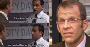 times michael scott was savage af towards toby thethings