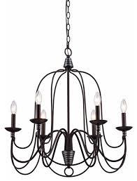 candle chandelier black pendant