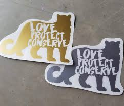 Snow Leopard Love Protect Conserve Vinyl Decal Animals Anonymous Apparel