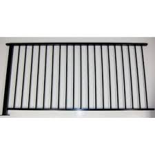 Protector Aluminium 2000 X 1010mm Black Balustrade Fence Panel With Post Fence Panels Paneling Fence