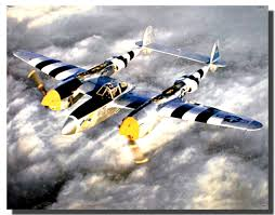 P 38 Lightning Poster Airplane Posters Aviation Posters