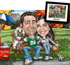 custom couples caricatures from a photo