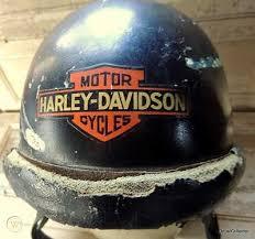 Vintage Harley Davidson Logo Decal Romer Helm 1930s 40s Motorcycle Helmet Ama 483413840