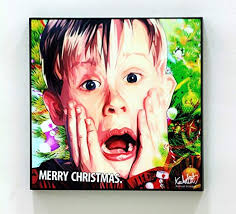 com home alone cinema poster pop art print canvas quotes