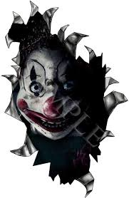 Rip Hole Poltergeist Scary Clown Vinyl Sticker Window Windscreen U K Post Only Scary Clowns Childrens Wall Decals Car Stickers