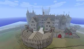 minecraft castle | Due to the large scale you will feel very small ...