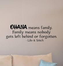 Amazon Com Lilo And Stitch Quote Wall Decal Ohana Means Family Sign Walt Disney Poster Nursery Vinyl Sticker Kids Wall Decor Playroom Wall Made In Usa Fast Delivery Home Kitchen