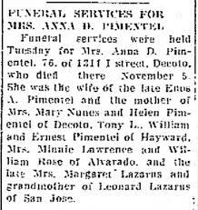 1943 - Anna Pimentel, Margaret Lazarus, Mary Nunes, Helen Pimentel ...