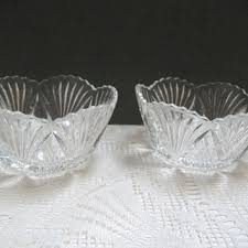 vintage clear glass bowls on wanelo