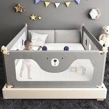 Star Bear Baby Bed Fence Baby Shatterproof Protective Bed Rail Child Safety Against 1 5 2 Meters Bedside Baffle Bed Guardrail With Images Baby Safety Hacks Safety Bed Baby Safety Door