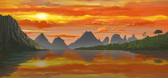 beautiful landscape of rocky mountain