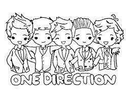 Kleurplaat One Direction Kleurplaten