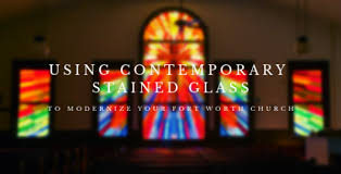 using contemporary stained glass to