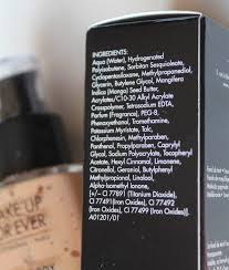 makeup forever face and body ings