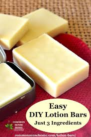 lotion bar recipe easy to make with