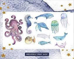 Sea Life Stickers Etsy