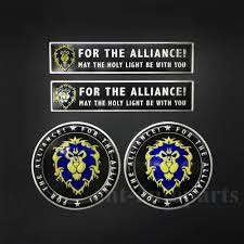 4pcs For The Alliance Emblem Car Auto Decal Sticker Badges World Of Warcraft Wow