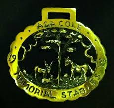 Vintage RARE Horse Harness Brass ADA COLE MEMORIAL STABLES WOW YOUR WALLS!  WOW! | eBay