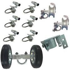 6 Rolling Sliding Chain Link Fence Gate Hardware Kit 6 Wheel Latch Brackets Ebay