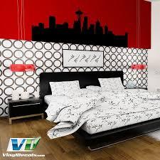 Vinyldecals Com Seattle Washington Skyline Wall Art Decal Decal Wall Art Vinyl Wall Vinyl Wall Art Decals