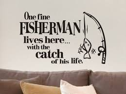 Fishing Decor Man Cave Decor Fishing Decal Vinyl Wall Decals Etsy