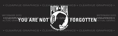 Pow Mia 1 Patriotic Rear Window Graphic