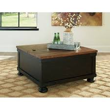lift top coffee table with storage black