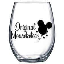 Amazon Com Original Mouseketeer Mickey Balloon Decal Only Vinyl Sticker For Wine Glass Mug Or Cup Baby
