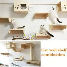 tardo cat wall shelf set cat hammock