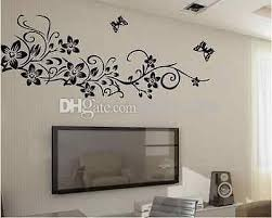 Large Corner Flower Vine Swirl Flower Tree And Butterfly Home Deco Wall Stickers Two Color Black Pink Decoration Stickers For Walls Decoration Wall Stickers From Sunki2009 11 09 Dhgate Com