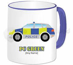 personalised gift police car mug cup