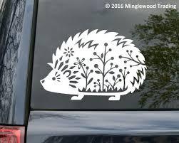 Hedgehog Vinyl Decal Sticker Desert African Pygmy Daurian Sonic Vinyl Decals Silhouette Vinyl Hedgehog