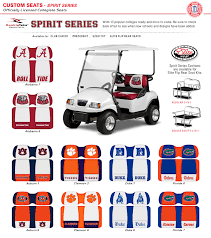 collegiate golf cart seats sports team
