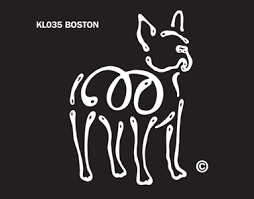K Line Boston Terrier Dog Car Window Decal Tattoo Doggy Style Gifts