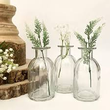 ribbed glass bottles small bud vase