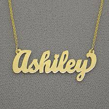 name necklaces customized in gold