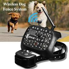 Electronic Wireless Remote Dog Training Collar Fence Containment System Dog Training Electric Shock Collar Training Collars Aliexpress