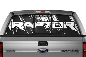 Ford F150 Rear Window Decals Raptor Racerx Customs Truck Graphics Grilles And Accessories