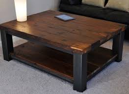 wood large square coffee table rustic