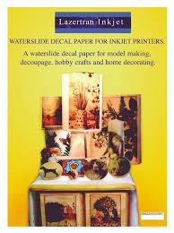 Inkjet Waterslide Decal Paper Print Decals Transfer Images Diy Crafts