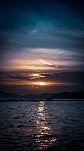 خلفيات ايفون Xr روعة غروب الشمس على البحر Hd مربع