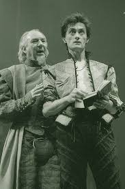 Hamlet 1984 Hamlet (Roger Rees) and Polonius (Frank Middlemass ...