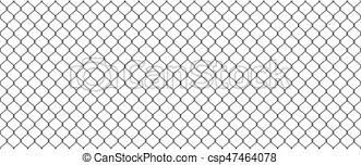 Chainlink Fence Silhouette Of Metal Wire Mesh Seamless Pattern