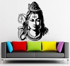 Cheap Price God Shiva India Hindu Religion Wall Decals Home Decor India Buddha Ganesh Om Yoga Namaste Buddhism God Wall Stickers Aum Decor
