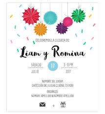 Invitacion Baby Shower Gemelos Fiesta Oh Yupi Yei